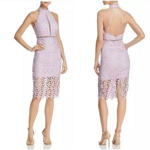NWT Bardot Gemma Halter Lace Dress x Revolve